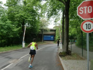 Weiß nicht mehr der wievielte, aber mit 10 km/h bewegte sich dieser Läufer nicht.