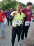 Silke nach dem 10km-Lauf