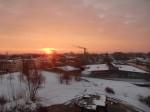 Sonnenaufgang vom Zimmer
